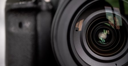 Close Up Of The Camera Lens