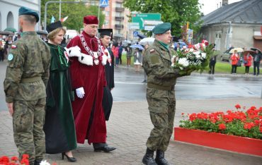 PWSTE podczas uroczystych obchodów 228. rocznicy Konstytucji 3 Maja