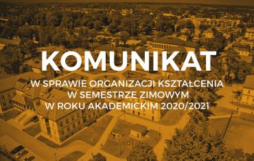 Organizacja kształcenia w semestrze zimowym