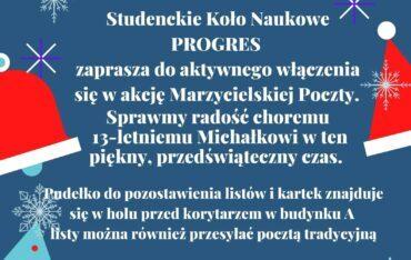Marzycielska poczta – wyślij świąteczną kartkę choremu Michałkowi